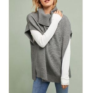 🆕 Anthropologie Gray Cowl Neck Pullover, Size XL